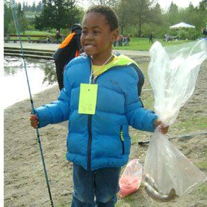 boy w fish