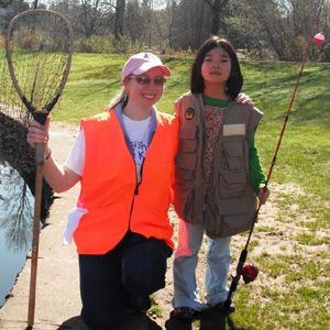 volunteer w girl rod net
